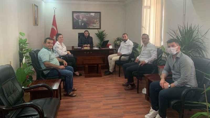 Başkan Adayı Çıray ve ekibinden Kaymakam Gülenç'e ziyaret