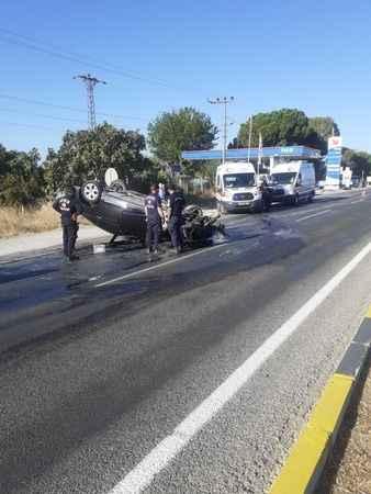 Germencik'te otomobil takla attı: 2 yaralı