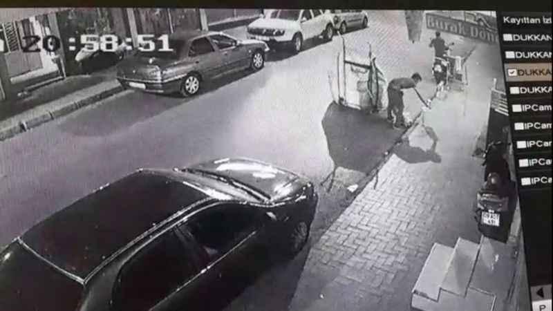 Kameralara yakalanan hırsız gözaltına alındı