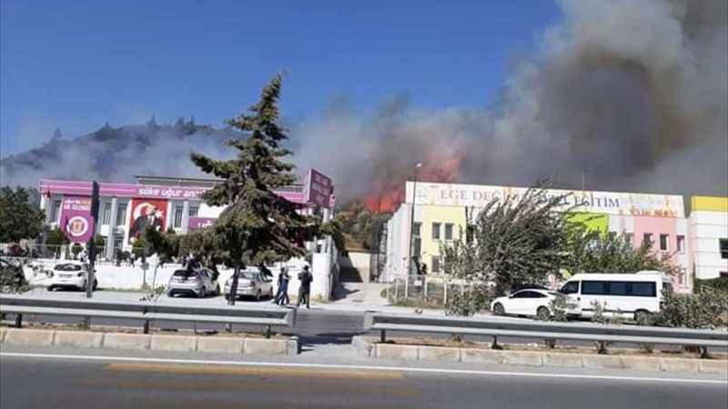Aydın'da makilik alanda çıkan yangın söndürüldü