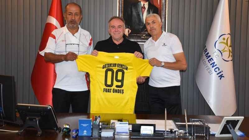 Başkan Öndeş'ten Ortaklar Gençlik Spor'a destek