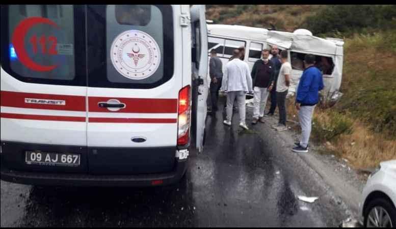 Aydın'da feci kaza: 1 ölü, 5 yaralı