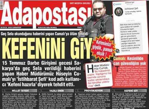 Gazeteci Hüseyin Cumalı'ya ölüm tehdidi!..