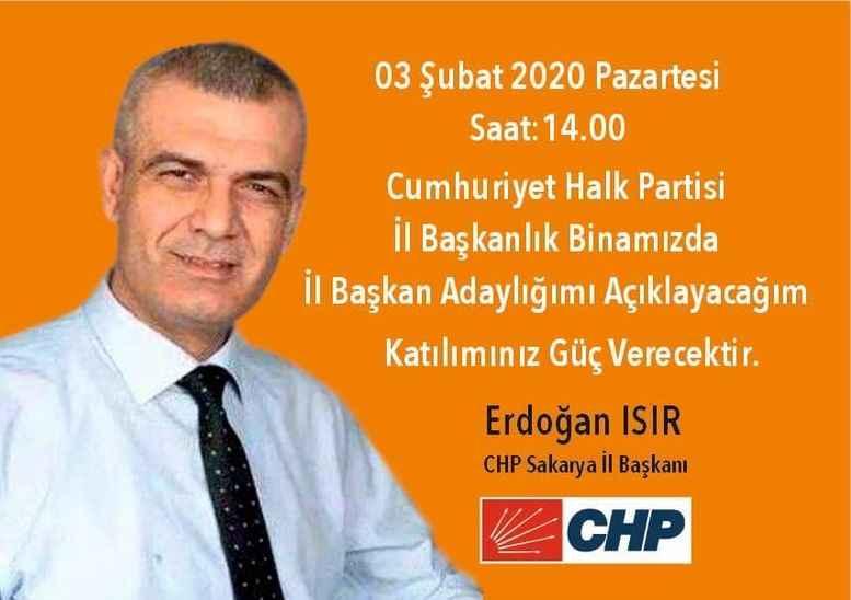 CHP'de 3. aday Erdoğan Isır