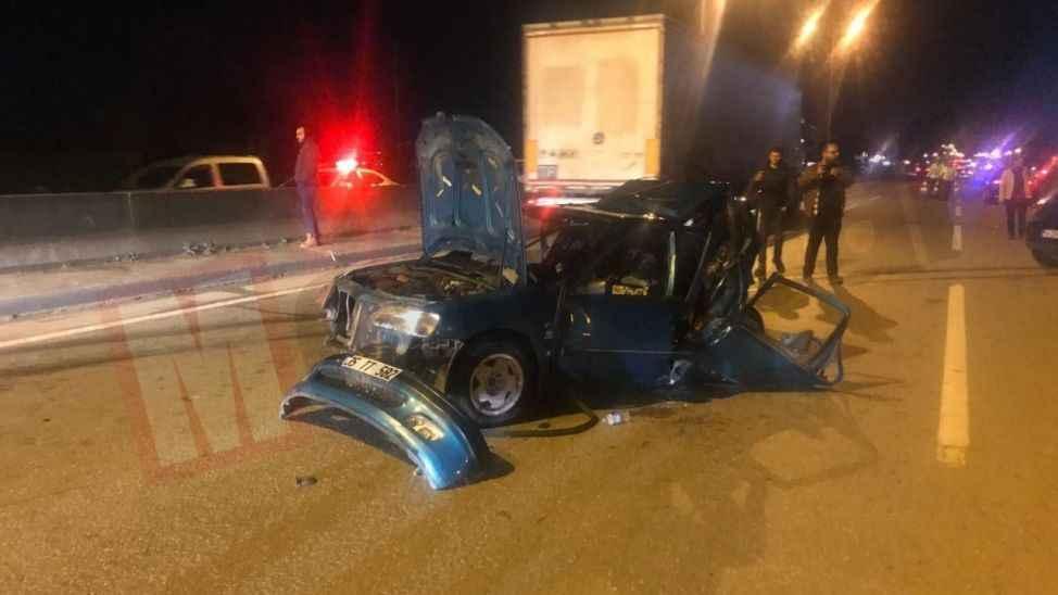 Asker konvoyunda feci kaza: 1 ölü 3 yaralı