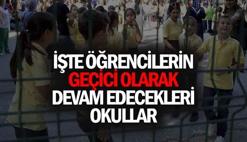 Valilikten 'hasarlı okullar' açıklaması..