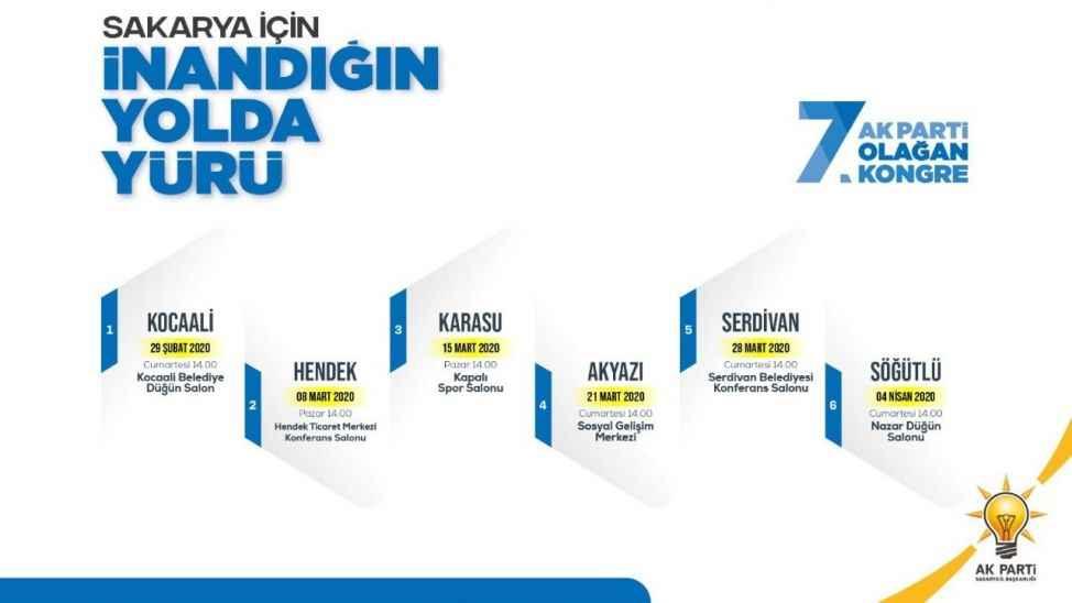 AK Parti'nin 6 ilçede kongre tarihi belli oldu