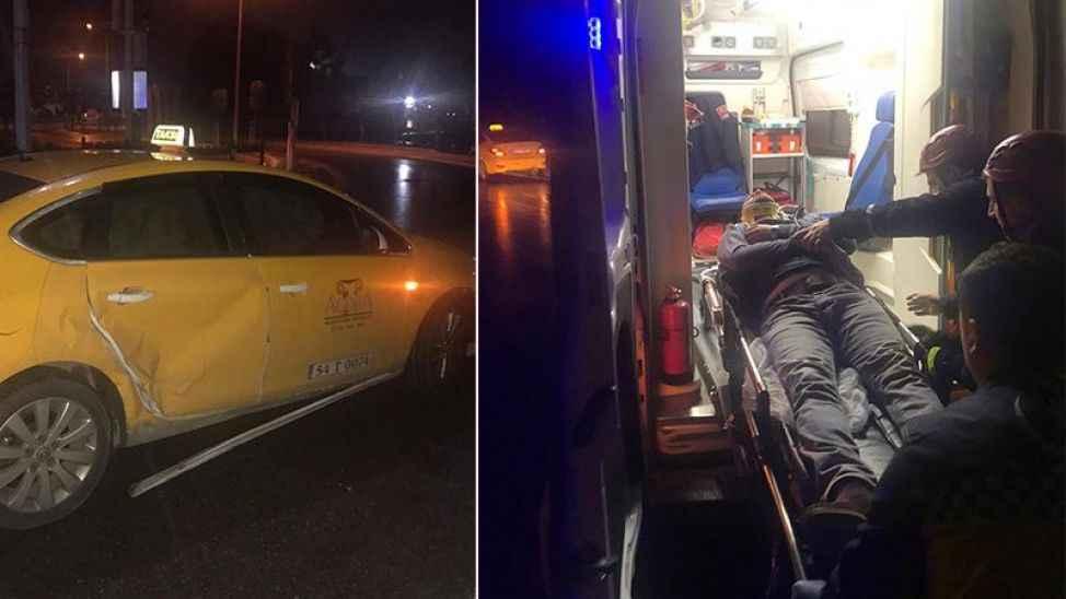 Donatım kavşağında kaza: 2 yaralı