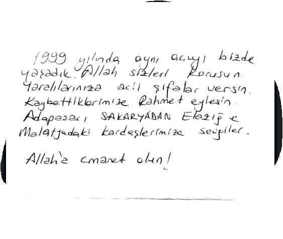 Sakarya'dan Elazığ'a gönderilen mektup içleri ısıttı