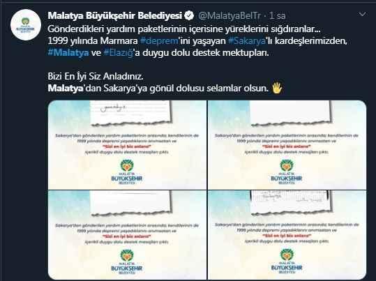 Bizi en iyi siz anladınız...Malatya Büyükşehir Belediyesi'nden manidar paylaşım