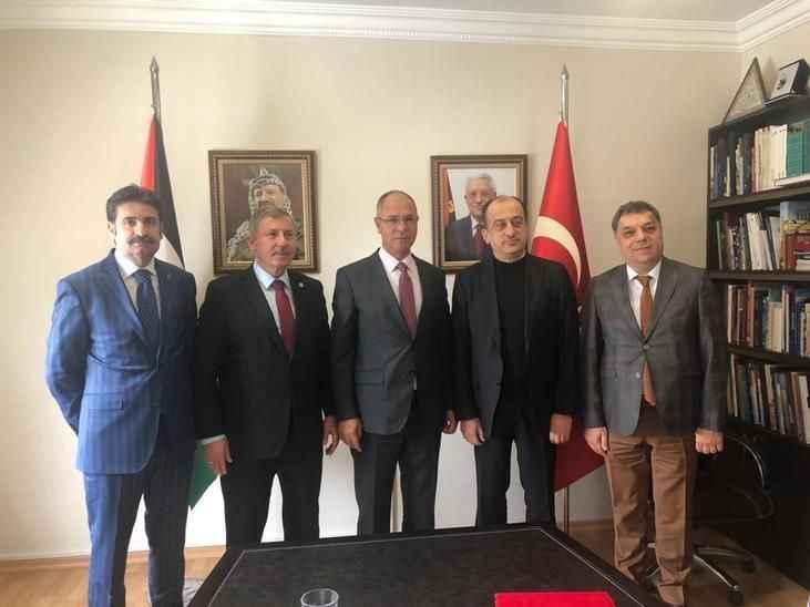 Gelecek Partisi'nden Filistin Büyükelçiliğine ziyaret