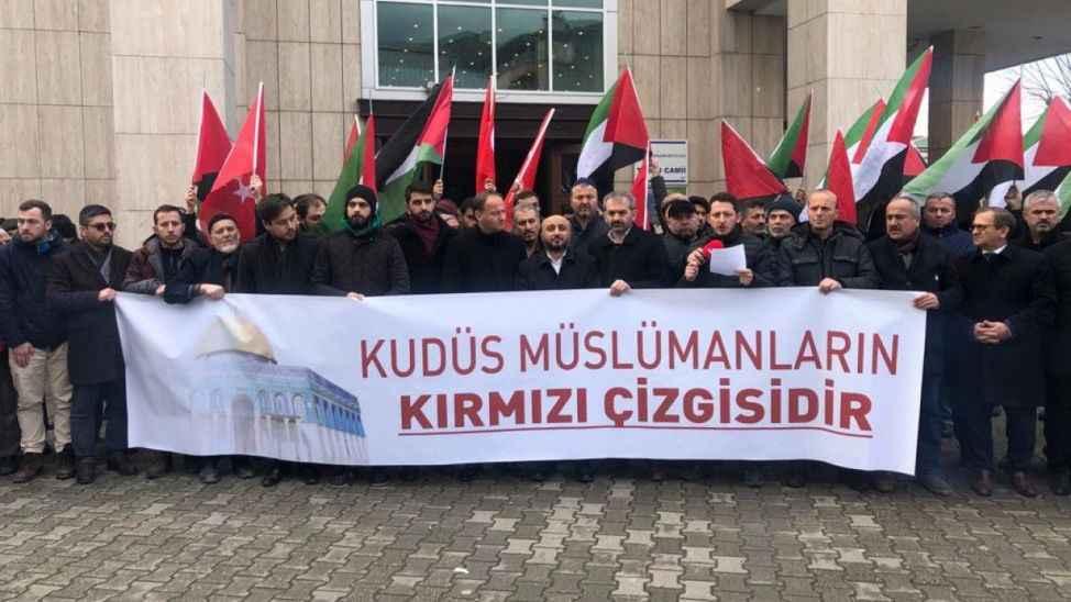 Sakarya'da ABD'nin sözde barış planı protesto edildi