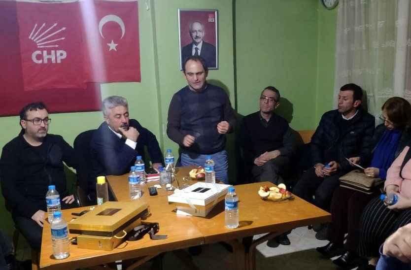 Şahin ve Keleş CHP de İl Başkanlığı yarışı için Pamukova'daydı