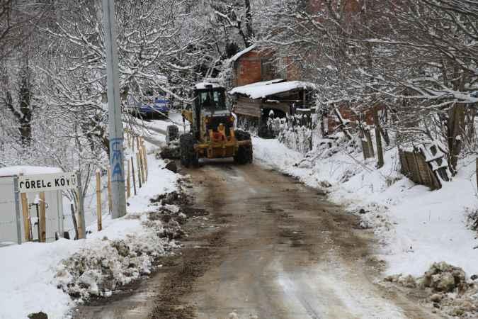 Kocaali'de karla mücadele