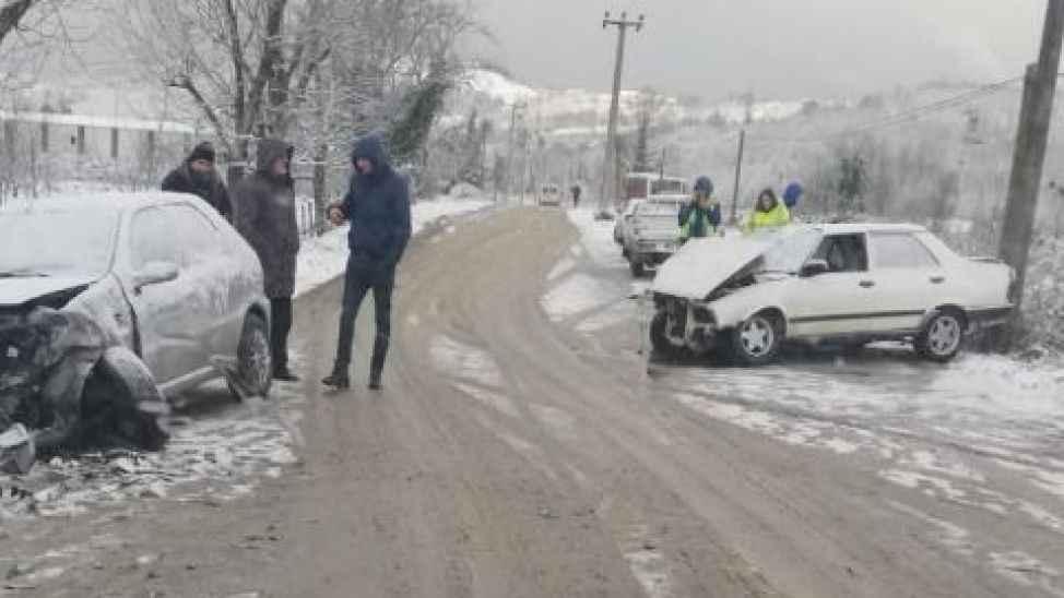 Buzlanma kazayı beraberinde getirdi