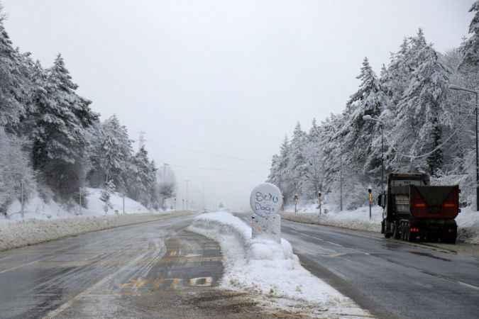 Bolu Dağı'nda hava durumu!