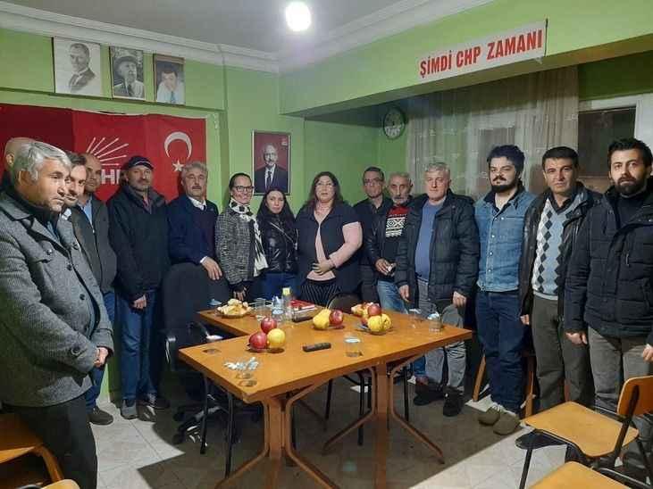 Reyhan Şahin İlçe teşkilatları ile bir arada