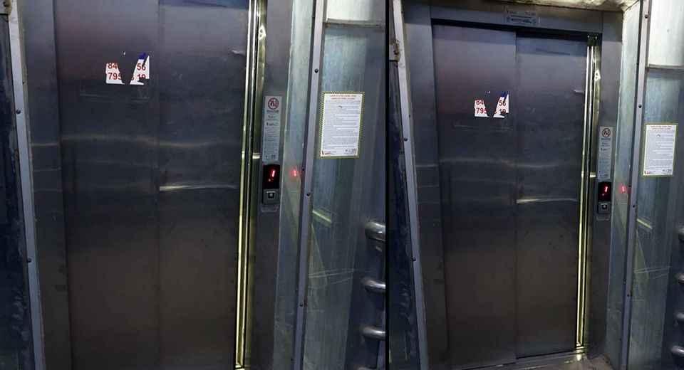 Asansörden ne istediniz? Tekmeleyerek bozdular!