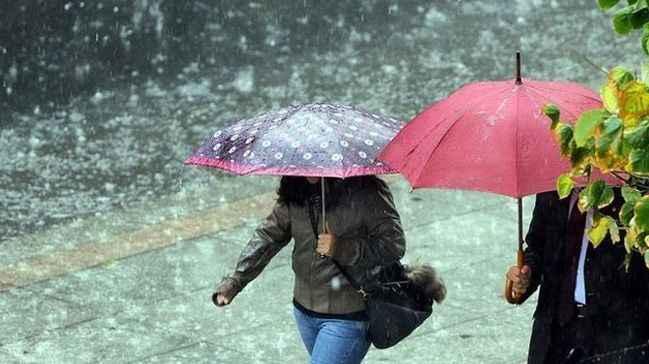 Şemsiyelerinizi hazırlayın! Yağmur geliyor