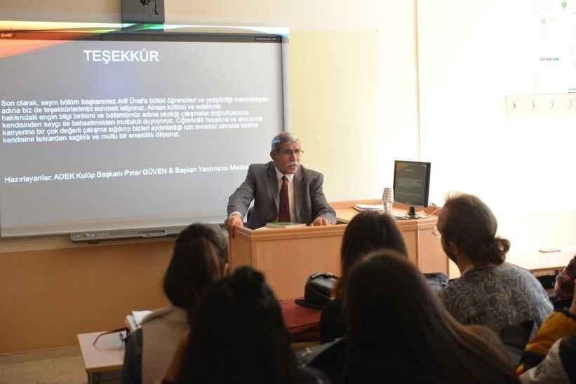 Prof. Dr. Arif Ünal'dan SAÜ'lü öğrencilere tavsiyeler