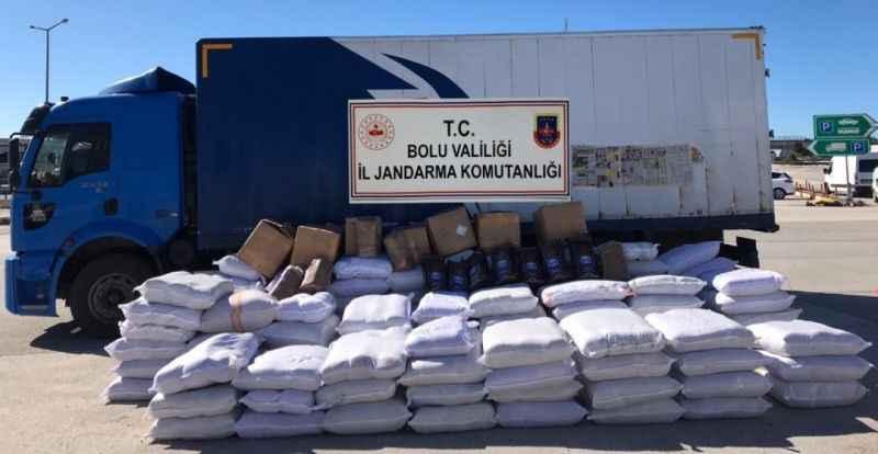 Bolu'da, 3 bin 920 kilogram kaçak tütün ele geçirildi
