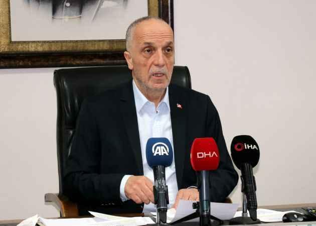 Türk-İş Başkanı Atalay'dan ''112'de çalışan işçiler de 24 saat mesai yapsın'' talebi