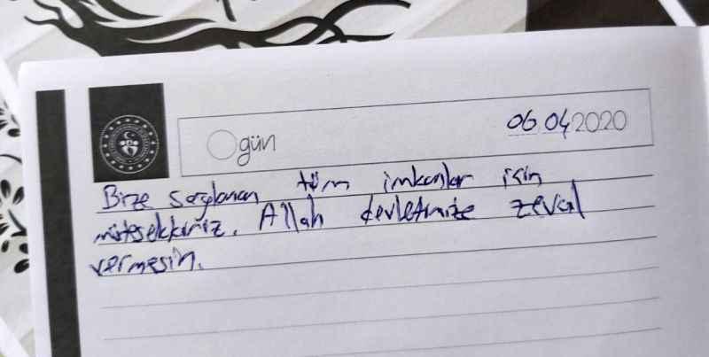 Sakarya'da gözetim süresi biten misafirlerden görevlilere teşekkür mektubu