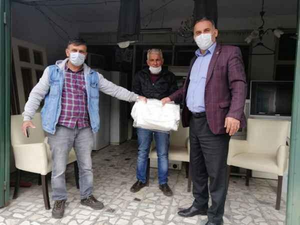 Hayırsever iş adamından Karasu'da koruyucu ekipman yardımı