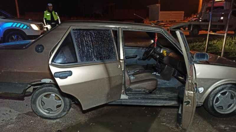 Düzce'de 54 plakalı otomobile silahlı saldırı
