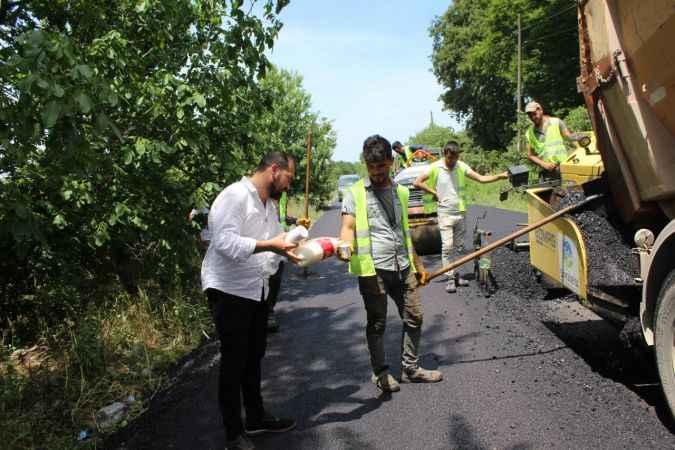 Ferizli'de muhtarlar, belediye ekiplerinin çalışmalarını yerinde inceledi