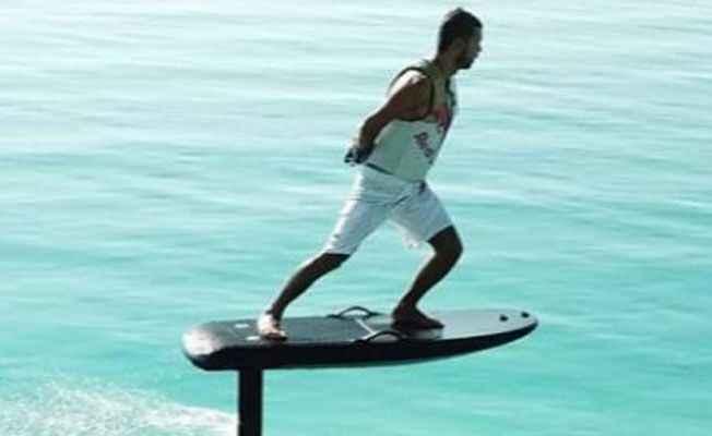 Kenan Sofuoğlu Salda Gölünde fliteboard yaptı - Medyabar