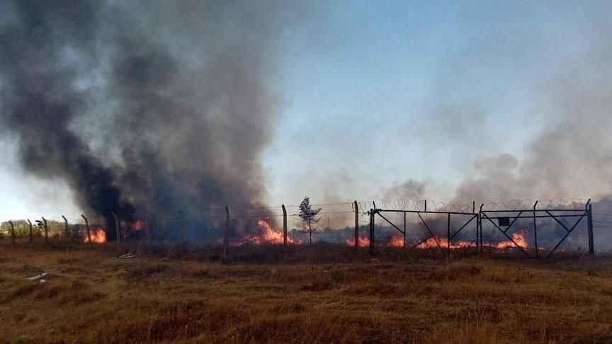 Pamukova'daki mühimmat deposu nizamiye girişinde yangın paniği