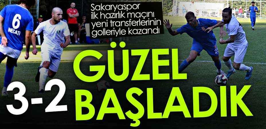Skoru penaltılar belirledi! Sakaryaspor ilk hazırlık maçında rakibini 3-2 yendi