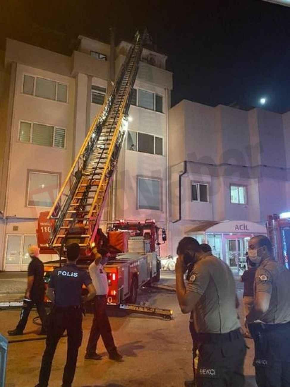 Özel hastanedeki yangın korkuttu!