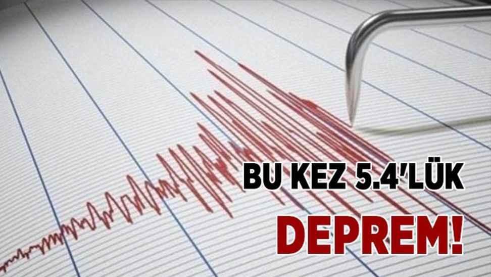 Büyük deprem! 5.4 ile sallandı