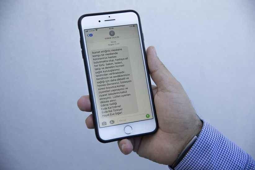 Edirne'de Corona virüs hastalarının komşuları mesajla uyarılıyor
