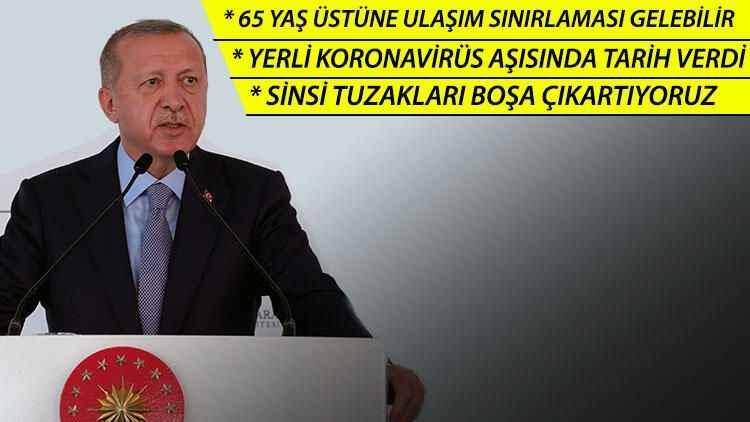 Erdoğan yerli koronavirüs aşısı için tarih verdi