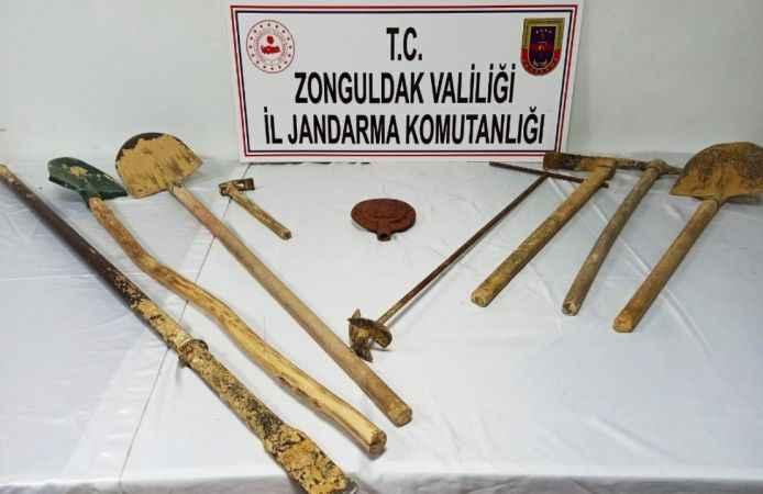 Zonguldak'ta definecilere kazı operasyonu: 3 gözaltı