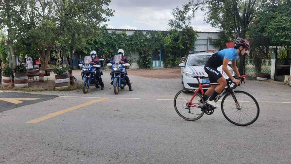 Yol Bisikleti Türkiye Şampiyonası'na jandarmadan güvenlik tedbiri