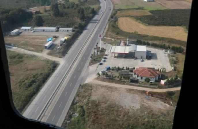Jandarma ekipleri trafiği havadan ve karadan denetledi