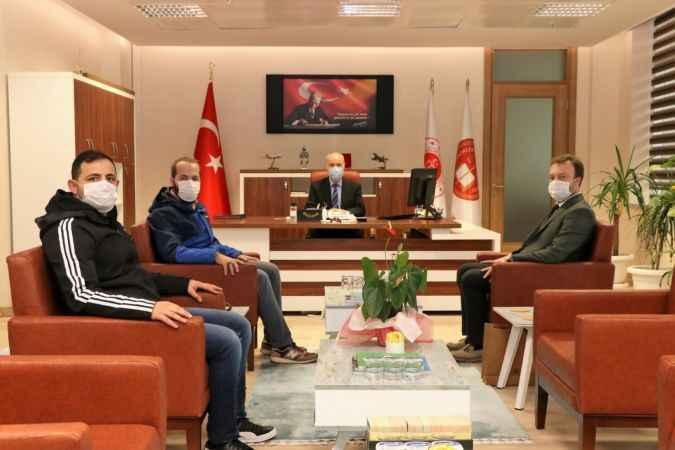 AA Sakarya Bölge Müdürü Velioğlu'ndan, Sakarya BAM Başkanı Koçer'e ziyaret