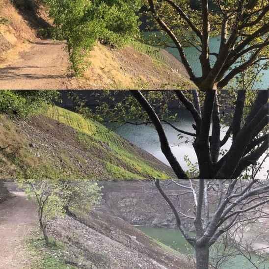 Komşunun barajı resmen kurudu! Farklı zamanlarda çekilen resimler endişe verici...