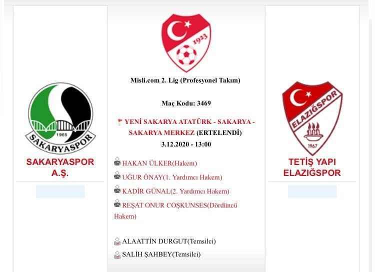 SON DAKİKA: Elazığspor maçı ertelendi