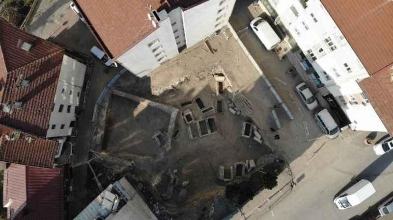 Bolu'da inşaat kazısında tarihi eser kalıntıları bulundu
