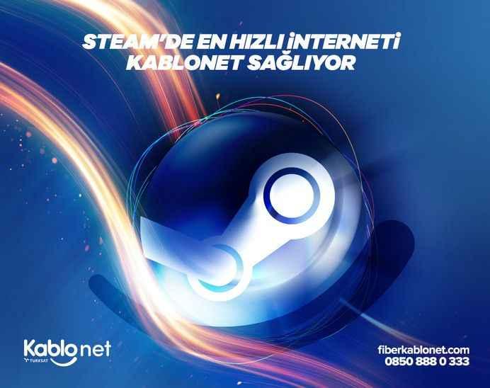 Steam'de En Hızlı İnterneti Kablonet Sağlıyor