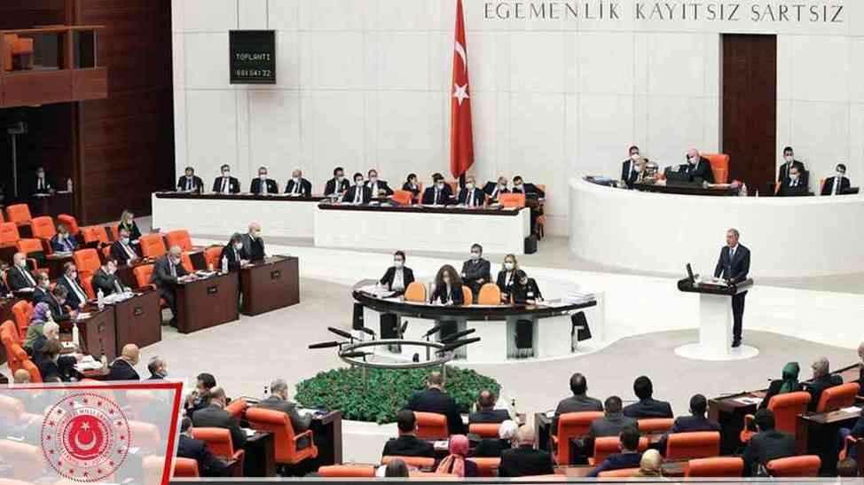 Bakan Akar'dan Meclis'te Tank Palet konuşması