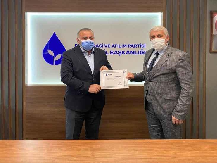 DEVA Partisi Akyazı başkanlığına  Erkan Çoruhlu atandı