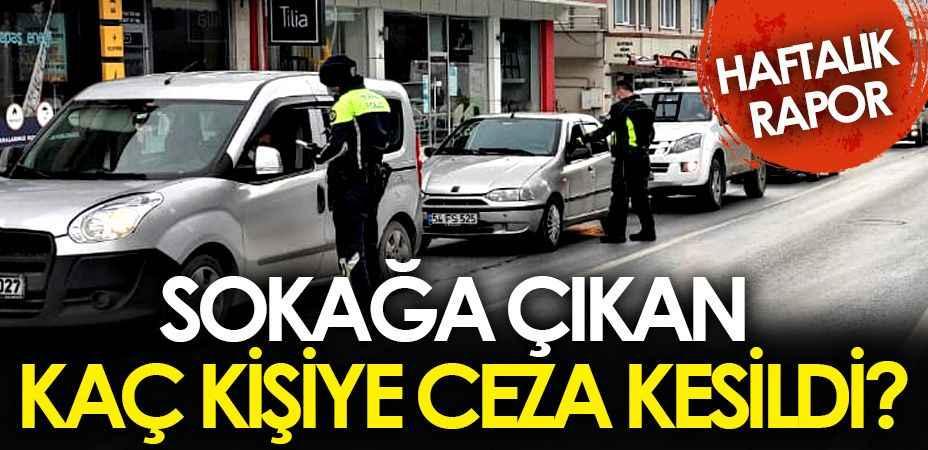 Sakarya'da bu hafta kaç kişiye ne kadar ceza kesildi?