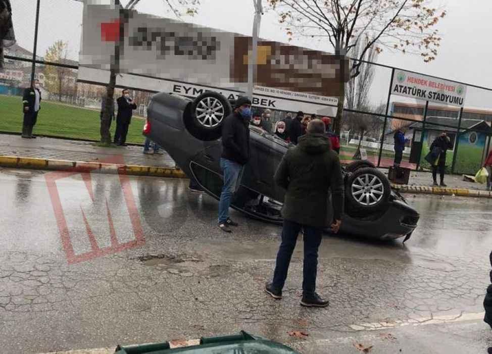Görenleri şaşırtan kaza! Kimse anlam veremedi...