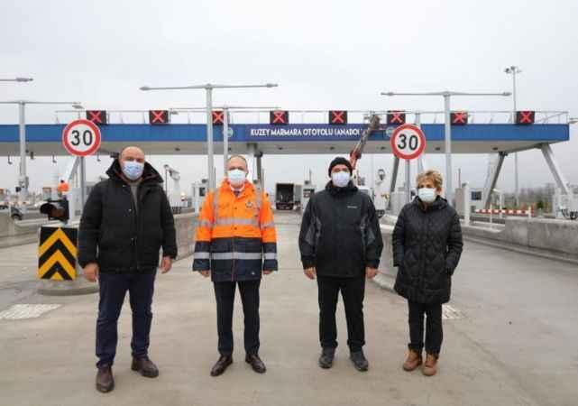 Sakarya Valisi Kaldırım, Kuzey Marmara Otoyolu'nda incelemelerde bulundu